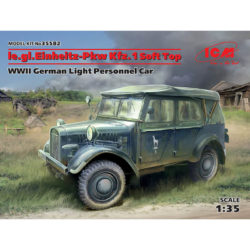 icm 35582 le.gl.Einheitz-Pkw Kfz.1 Soft Top WWII German Light Personnel Car maqueta escala 1/35