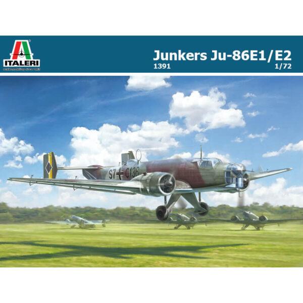 italeri 1391 Junkers Ju 86E1/E2 maqueta escala 1/72