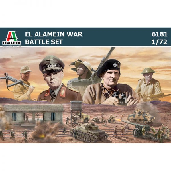 italeri 6181 El Alemain War Battle SetThe Railway Station diorama escala 1/72