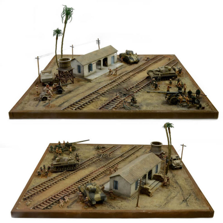 italeri 6181 El Alemain War Battle SetThe Railway Station diorama escala 1/72