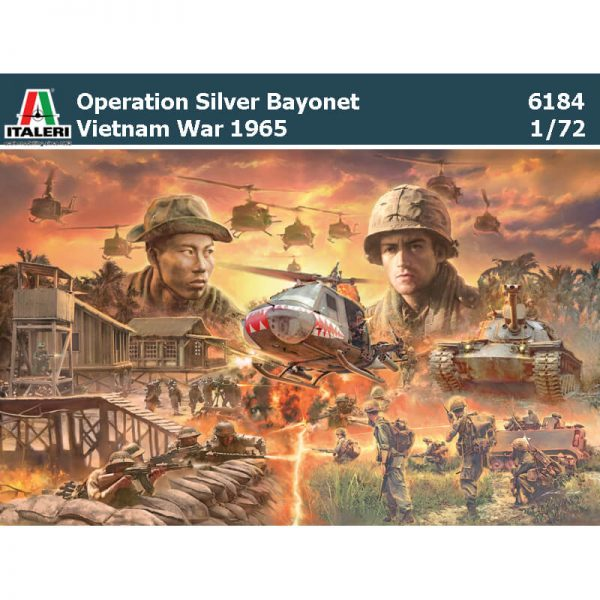italeri 6184 OPERATION SILVER BAYONET 1965 BATTLE SET Vietnam War diorama escala 1/72