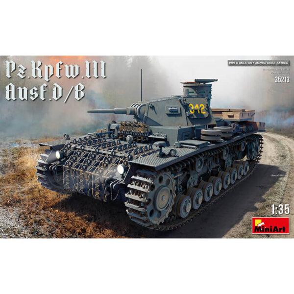 miniart 35213 Pz.Kpfw.III Ausf. D/B maqueta escala 1/35