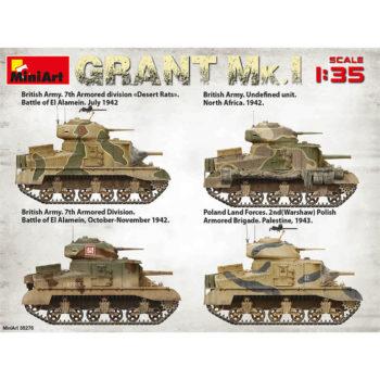 miniart 35276 Grant Mk.I British Medium Tank maqueta escala 1/35