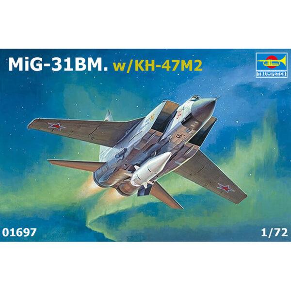 trumpeter 01697 MiG-31BM. w/KH-47M2 maqueta escala 1/72