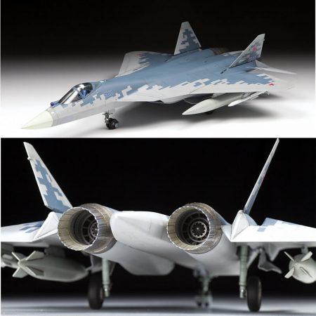 zvezda 7319 Russian fifth-generation fighter SU-57 maqueta escala 1/72