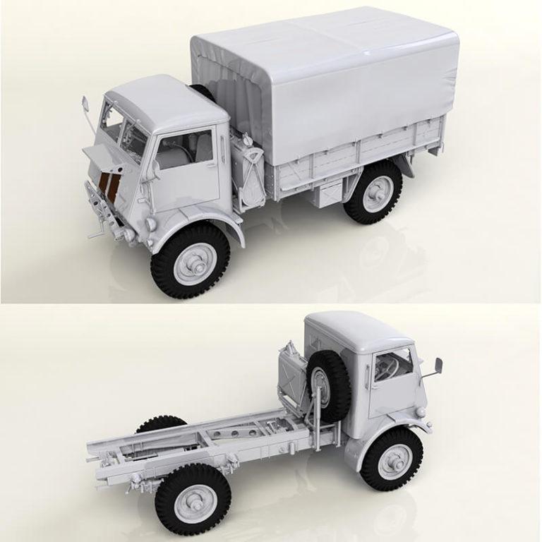 icm models 35590 Model W.O.T. 8, WWII British Truck maqueta escala 1/35