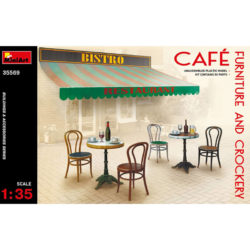 miniart 35569 Café Furniture & Crockery Building & accesories Series maqueta escala 1/35