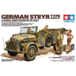 tamiya 35305 German Steyr Type 1500A/01 & Africa Corps Infantry At Rest maqueta escala 1/35