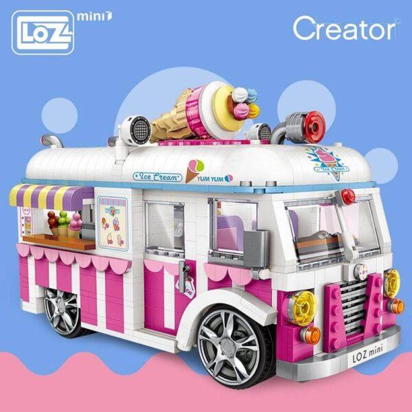 Loz Mini 1112 Ice Cream Van 1244 pcs Diviertete mientras montas tu propia furgoneta heladería. Construye y colecciona con los bloques de Loz, tus vehículos favoritos. Los Mini Blocks de Loz son los bloques de construcción de tamaño medio entre Loz Diamond Blocks y Lego Blocks. Piezas 1244 Dimensiones: 100 x 180 mm Recomendado a partir de 6 años.