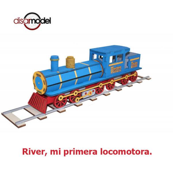 disarmodel 10020 River, mi primera locomotora maqueta en madera