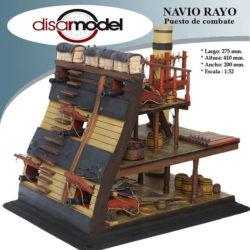disarmodel 20148 Puesto de Combate del Navío Rayo 1751 maqueta en madera escala 1/32