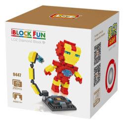 Loz 9447 Iron Man 250pcs Construye y colecciona con los bloques de Loz, tus personajes favoritos. Los Diamond Blocks de Loz son los bloques de construcción mas pequeños del mercado.