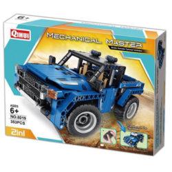 qihui 8019 RC 2 en 1 Coche y Pickup Truck 353pcs Mechanical Master DIY Remote Control Vehicles