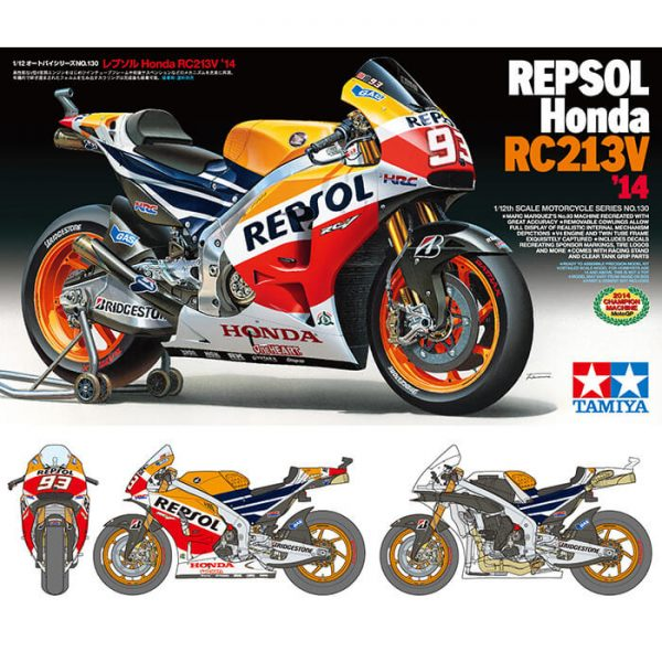 tamiya 14130 Repsol Honda RC213V '14 Marc Marquez maqueta escala 1/12