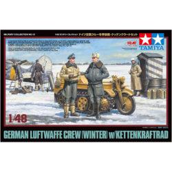 tamiya 32412 German Luftwaffe Crew Winter w/Kettenkraftrad maqueta 1/48