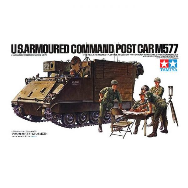 tamiya 35071 U.S. Armored Command Post M577 maqueta escala 1/35