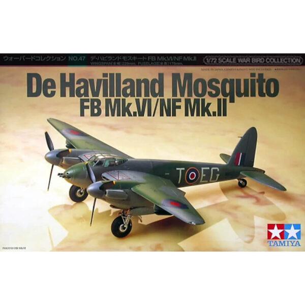 tamiya 60747 De Havilland Mosquito FB Mk.VI/NF Mk.II maqueta escala 1/72