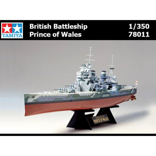 tamiya 78011 British Battleship Prince of Wales maqueta escala 1/350