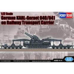hobby boss 82961 Mörser KARL-Gerät 040/041 on Railway Transport Carrier maqueta escala 1/72