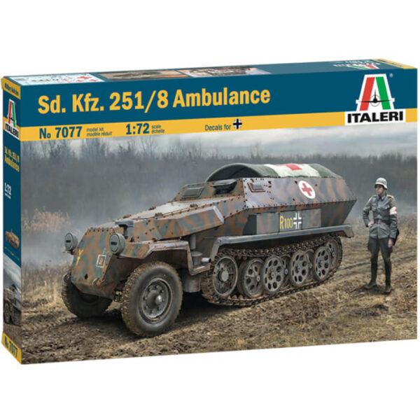 italeri 7077 Sd.Kfz. 251/8 Ambulance maqueta escala 1/72