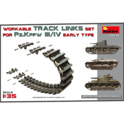 miniart 35235 Wokable Track Link Set for Panzer III Panzer IV Early