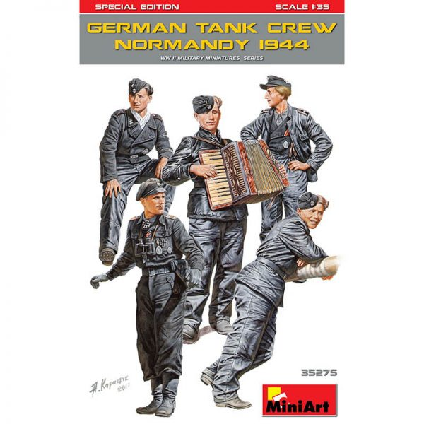 miniart 35275 German Tank Crew Normandy 1944 Figuras escala 1/35