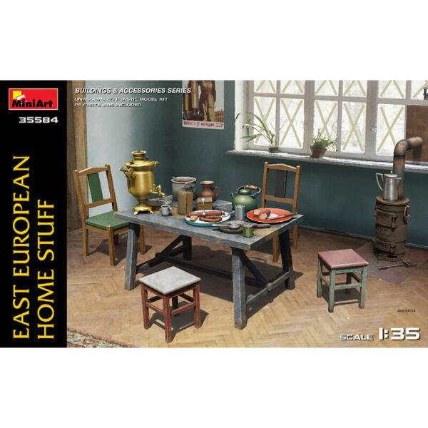 miniart 35584 East European Home Stuff Buildings & Accesories Series kit escala 1/35