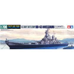 tamiya 31613 U.S. Battleship BB-63 Missouri Water Line Series Maqueta escala 1/700