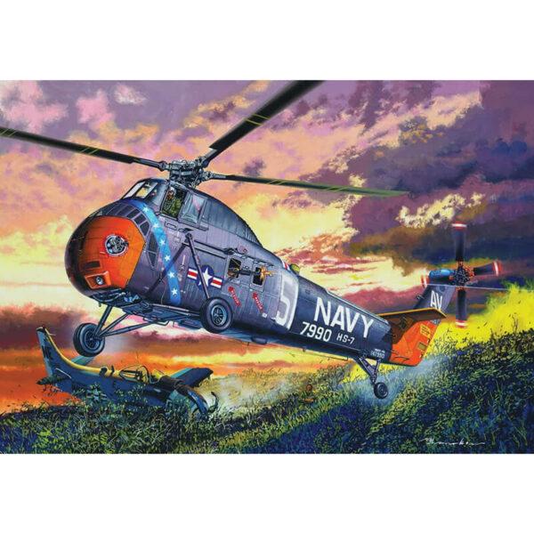 trumpeter 02882 H-34 US Navy Rescue maqueta escala 1/48