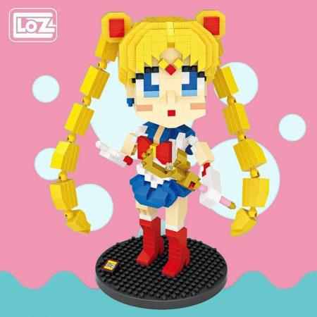 Loz 9794 Sailor Moon 730 pcs Kit del personaje de anime japones Sailor Moon. Construye y colecciona tus personajes favoritos con los bloques de montaje mas pequeños del mercado.