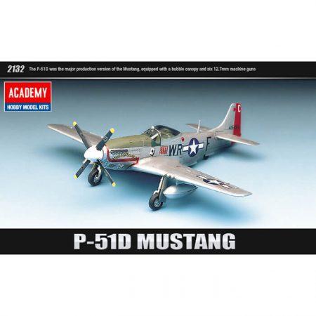 P-51D Mustang 1/72 The Fighter of World War II Kit en plástico para montar y pintar.
