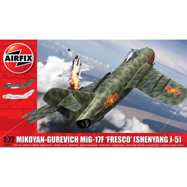 airfix a03091 Mikoyan-Gurevich MiG-17F Fresco maqueta escala 1/72