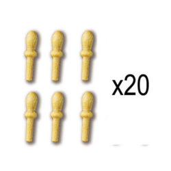 Constructo 80001 Cabilla Boj 10mm (20uds) Cabilla torneada en madera de boj. Blister : 20 Unidades.