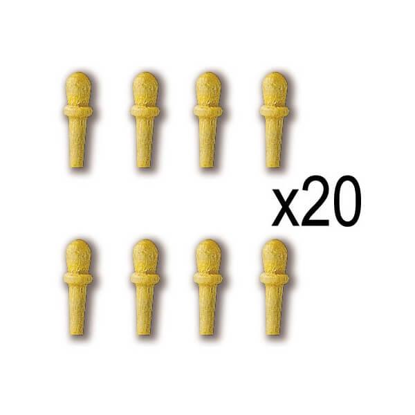 Constructo 80002 Cabilla Boj 8mm Cabilla torneada en madera de boj. Blister : 20 Unidades.
