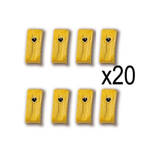 Constructo 80007 Motones Boj 1 orificio 7mm Moton en madera de boj. Blister : 20 Unidades.