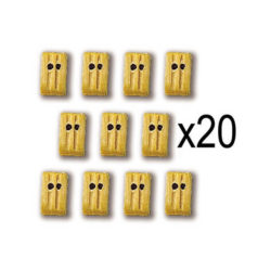 Constructo 80011 Cuadernales Boj 2 orificios 5mm Cuadernal de dos orificios en madera de boj. Blister : 20 Unidades.