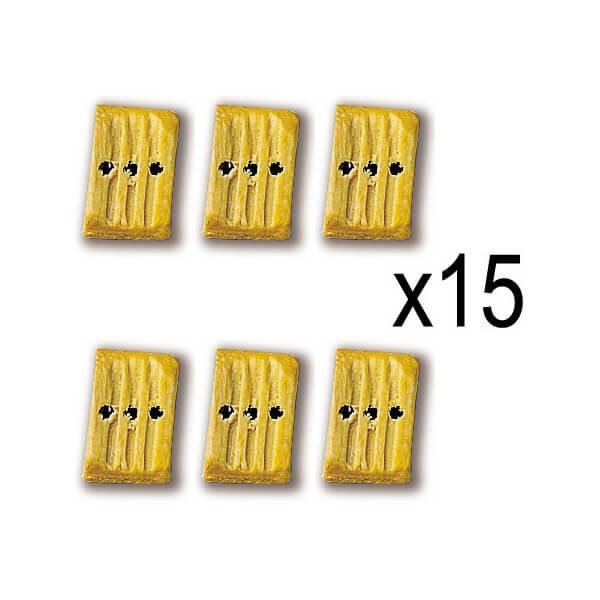 Constructo 80014 Cuadernales Boj 3 orificios 7mm Cuadernal de tres orificios en madera de boj. Blister : 15 Unidades.