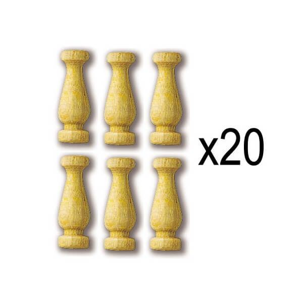 Constructo 80019 Columna Boj 10mm Columnas en madera de boj. Blister : 20 Unidades.