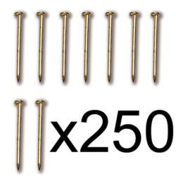 Constructo 80022 Puntas Latón 12mm Clavos de latón con cabeza de tipo fino. Diámetro : 0,7 mm.