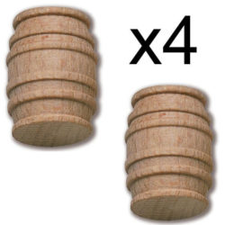 Constructo 80025 Barril Boj 15X20mm Barril torneado en madera de boj.