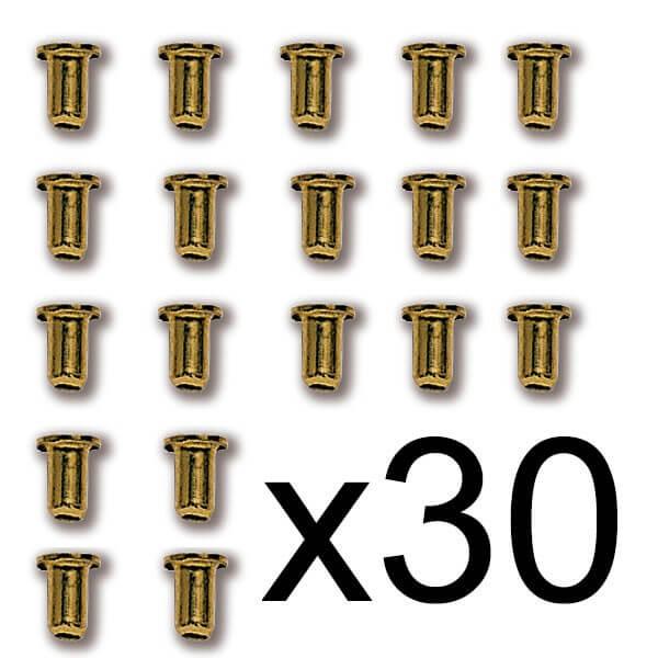 Constructo 80039 Ojo de buey de latón Ø 2 mm Ojo de buey de latón sin cristal.