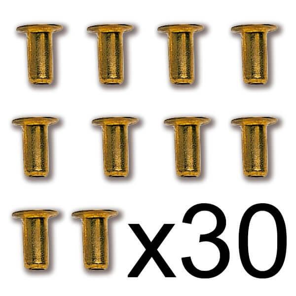 Constructo 80040 Ojo de buey de latón Ø 3 mm Ojo de buey de latón sin cristal.