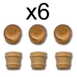 Constructo 80046 Balde Boj Ø 10mm Balde en madera de boj. Diámetro : 10 mm. Blister : 6 Unidades.
