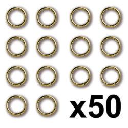 Constructo 80066 Anilla Latón 3X0,4mm Anillas redondas de latón.