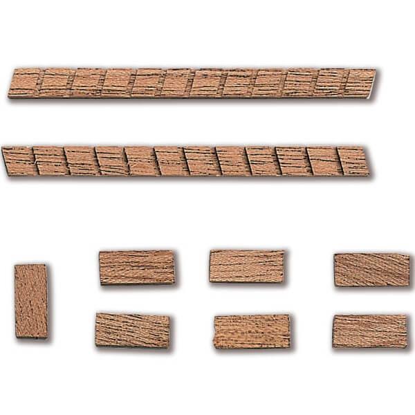 Constructo 80201 Escalera de Madera 70mm Escalera con peldaños en madera de Sapely en kit para ensamblar.