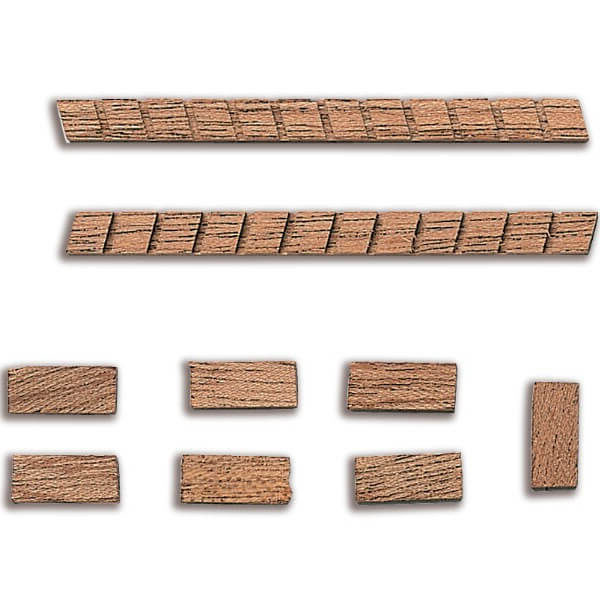 Constructo 80202 Escalera de Madera 50mm Escalera con peldaños en madera de Sapely en kit para ensamblar.