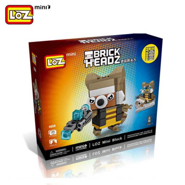 Loz Mini 1434 Rocket Brick Headz 171 pcs Guardianes de la Galaxia construcción por bloques de plástico