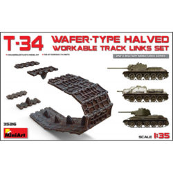 T-34 Wafer-Type Halved Track Link Set WWII Military Miniatures Series Kit en plástico para montar cadenas articuladas por eslabón a eslabón para la familia de carros T-34 soviéticos.