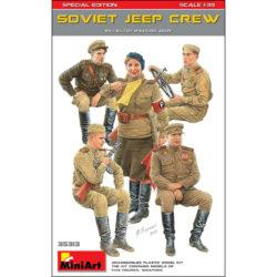 Soviet Jeep Crew WWII WWII Military Miniatures Series Kit en plástico para montar y pintar 5 figuras de infantería soviética para montar en un vehículo. Escala 1/35