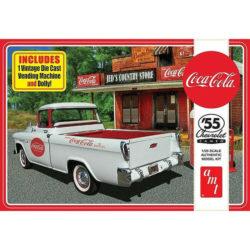 AMT 1094 Chevy Cameo Pick-up Coca Cola 1955 1/25 Kit en plástico para montar y pintar.